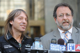 Alain Robert Photo - French stuntman Alain Robert aka Spiderman and his lawyer Daniel Arshack speak at a press conference outside a Manhattan court