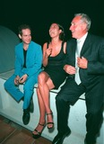 Tom Holland Photo - Breakfast TV presenter MELANIE SYKES with actors NIGEL HAWTHORNE (right)  TOM HOLLANDER at party in Cannes to promote their new movie The Clandestine Marriage Paul Smith  Featureflash