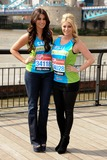 Billie Mucklow Photo - Cara Kilby and Billi Mucklow at the photocall for celebrities running the London marathon 2012 Tower Bridge London 21042012 Picture by Steve Vas  Featureflash