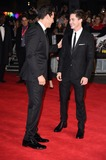 Logan Lerman Photo - Jon Bernthal and Logan Lerman arrives for the premiere of  Fury the closing Gala  of the Bfi London Film Festival 2014 at the Odeon Leicester Square London 19102014 Picture by Steve Vas  Featureflash