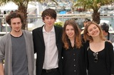 Aaron Johnson Photo - British stars Aaron Johnson (left) Matthew Beard Hannah Murray  Imogen Poots at the photocall for their new movie Chatroom at the 63rd Festival de CannesMay 14 2010  Cannes FrancePicture Paul Smith  Featureflash