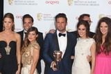 Andy Jordan Photo - Millie Mackintosh Louise Thompson Andy Jordan Spencer Matthews Lucy Watson and Binky Felstead in the press room at the TV BAFTA Awards 2013 Royal Festival Hall London 12052013 Picture by Henry Harris  Featureflash