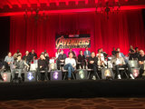 Anthony Russo Photo - Winston Duke Dave Bautista Don Cheadle Elizabeth Olsen  Mark Ruffalo Tom Hiddleston Sebastian Stan Anthony Mackie Pom Klementieff Chris Pratt Scarlett Johansson Kevin Feige Robert Downey Jr Zoe Saldana Chris Hemsworth Letitia Wright Tom Holland Anthony Russo Josh Brolin Joe Russo Chadwick Boseman Paul Bettany 04222018 Avengers Infinity War Press Conference held at The Montage Beverly Hills Luxury Hotel in Beverly Hills CA Photo by Izumi Hasegawa  HollywoodNewsWireco