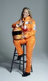 Kim Crosby Photo - Female Nascar driver Kim Crosby during a photo shoot with her new sponsor Vassarette Lingeries new driving suit August 23 2005 in New York City