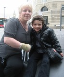 Alex Bain Photo - London UK  Alex Bain (R) who plays Simon Barlow with his mum (L)   The day after the Soap Awards   9th May 2010 ZakLandmark Media
