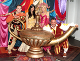 Andy Collins Photo - AylesburyBucks  Jasmin Walia Michelle Collins Andy Collins and Danny Colligan   at the Photocall for the upcoming pantomime Aladdin at the Waterside Theatre  9th September 2016Ref LMK73-61382-100916Keith MayhewLandmark Media WWWLMKMEDIACOM