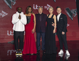 Tom Jones Photo - London UK  William Jennifer Hudson Tom Jones Emma Willis and Olly Murs at The Voice UK Final 2019 photocall at Elstree Studios on April 4 2019 in Borehamwood EnglandRef LMK386-J4690-050419Gary MitchellLandmark MediaWWWLMKMEDIACOM