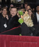 The Muppets Photo - London UK Ricky Gervais Kermit The Frog  Miss Piggy at the VIP screening of The Muppets Most Wanted at The Curzon Mayfair in London on March 24 2014Ref LMK315-47972-250312Can NguyenLandmark MediaWWWLMKMEDIACOM
