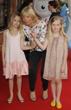 Alice Beer Photo - London UK    Alice Beer with her twin daughters Phoebe and Dora at the premiere of  The Itch of the Golden Nit Vue West End Leicester Square  29th June 2011 Can NguyenLandmark Media