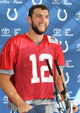 Andrew Luck Photo - Watford Herts Andrew Luck  at the Indianapolis Colts Press Conference at The Grove Hotel Chandlers Cross Watford ndianapolis are here to play in the latest NFL International Series game at Wembley Stadium vs Jacksonville Jaguars on Sunday October 2nd 2016 30th September 2016 Ref LMK73-61529-011016Keith MayhewLandmark Media WWWLMKMEDIACOM