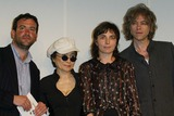 Beck Photo - London Yoko Ono and Bob Geldof presenting the winners (Doug Fishbone and Saskia Olde-Wolbers) of Becks Futures 2004 at the ICA Named after the beer and not David Beckham   27th April 2004Ref  PICTURES BY JENNY ROBERTSLANDMARK MEDIA LMK