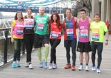Amanda Mealing Photo - London UK  Amanda Mealing  Kelly Sotherton Iwan Thomas Amy Childs  Andrew Strauss   James Toseland   and Mike Bushell (TV Sports presenter)  at the London Marathon 2013 Celebrities Photocall outside the Tower Hotel London 17th April  2013Keith MayhewLandmark Media