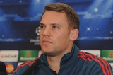 Bayern Munich Photo - London UK  Bayern Munich player Manuel Neuer   at a press conference at the Landmark Hotel before their game against Arsenal in the Champions League match against Arsenal Bayern Munich won the game 2-0 on the 19th February 2014  Press conference 17th February 2014 RefLMK326-47733-210214  Matt LewisLandmark Media WWWLMKMEDIACOM