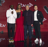 Tom Jones Photo - London UK William Jennifer Hudson Tom Jones and Olly Murs at The Voice UK Final 2019 photocall at Elstree Studios on April 4 2019 in Borehamwood EnglandRef LMK386-J4690-050419Gary MitchellLandmark MediaWWWLMKMEDIACOM
