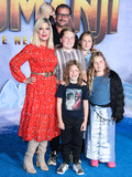 Tori Spelling Photo - HOLLYWOOD LOS ANGELES CALIFORNIA USA - DECEMBER 09 Tori Spelling and husband Dean McDermott with children arrive at the World Premiere Of Columbia Pictures Jumanji The Next Level held at the TCL Chinese Theatre IMAX on December 9 2019 in Hollywood Los Angeles California United States (Photo by Xavier CollinImage Press Agency)