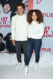 Armani Jackson Photo - LOS ANGELES CALIFORNIA USA - NOVEMBER 04 Armani Jackson and Talia Jackson arrive at the Los Angeles Premiere Of Netflixs Let It Snow held at Pacific Theatres at The Grove on November 4 2019 in Los Angeles California United States (Photo by Image Press Agency)
