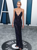 Alberta Ferretti Photo - BEVERLY HILLS LOS ANGELES CALIFORNIA USA - FEBRUARY 09 Model Stella Maxwell wearing Alberta Ferretti arrives at the 2020 Vanity Fair Oscar Party held at the Wallis Annenberg Center for the Performing Arts on February 9 2020 in Beverly Hills Los Angeles California United States (Photo by Xavier CollinImage Press Agency)