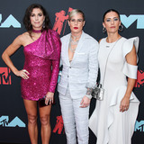 Alex Morgan Photo - NEWARK NEW JERSEY USA - AUGUST 26 American soccer players Alex Morgan Ashlyn Harris and Ali Krieger arrive at the 2019 MTV Video Music Awards held at the Prudential Center on August 26 2019 in Newark New Jersey United States (Photo by Xavier CollinImage Press Agency)