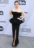 Amy Adams Photo - LOS ANGELES CA USA - JANUARY 27 Actress Amy Adams wearing a Celine dress Jimmy Choo shoes and Cartier jewelry while carrying a Celine clutch arrives at the 25th Annual Screen Actors Guild Awards held at The Shrine Auditorium on January 27 2019 in Los Angeles California United States (Photo by Xavier CollinImage Press Agency)