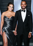 Wallis Annenberg Photo - (FILE) Ashley Graham pregnant with first child with husband Justin Ervin BEVERLY HILLS LOS ANGELES CALIFORNIA USA - MARCH 04 Model Ashley Graham and husbanddirector Justin Ervin arrive at the 2018 Vanity Fair Oscar Party held at the Wallis Annenberg Center for the Performing Arts on March 4 2018 in Beverly Hills Los Angeles California United States (Photo by Xavier CollinImage Press Agency)