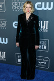 Alberta Ferretti Photo - SANTA MONICA LOS ANGELES CALIFORNIA USA - JANUARY 12 Actress Greta Gerwig wearing an Alberta Ferretti tuxedo arrives at the 25th Annual Critics Choice Awards held at the Barker Hangar on January 12 2020 in Santa Monica Los Angeles California United States (Photo by Xavier CollinImage Press Agency)