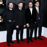 Fall Out Boy Photo - LOS ANGELES CA USA - FEBRUARY 10 Patrick Stump Andy Hurley Pete Wentz and Joe Trohman of Fall Out Boy arrive at the 61st Annual GRAMMY Awards held at Staples Center on February 10 2019 in Los Angeles California United States (Photo by Xavier CollinImage Press Agency)