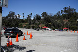 Train Photo - ELYSIAN PARK LOS ANGELES CALIFORNIA USA - MARCH 26 Cars queue at a coronavirus COVID-19 drive-through testing site at Frank Hotchkin Memorial Training Center (FHMTC) at 1700 Stadium Way on March 26 2020 in Elysian Park Los Angeles California United States California the most populous US state has been one of the worst-hit during the pandemic (Photo by Xavier CollinImage Press Agency)