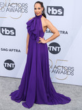 Amanda Brugel Photo - LOS ANGELES CA USA - JANUARY 27 Actress Amanda Brugel wearing a Redemption gown and Stuart Weitzman shoes arrives at the 25th Annual Screen Actors Guild Awards held at The Shrine Auditorium on January 27 2019 in Los Angeles California United States (Photo by Xavier CollinImage Press Agency)