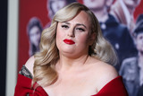 Badgley-Mischka Photo - HOLLYWOOD LOS ANGELES CALIFORNIA USA - OCTOBER 15 Actress Rebel Wilson wearing a Badgley Mischka dress arrives at the Los Angeles Premiere Of Fox Searchlights Jojo Rabbit held at the Hollywood American Legion Post 43 on October 15 2019 in Hollywood Los Angeles California United States (Photo by Xavier CollinImage Press Agency)