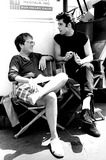 Allan Carr Photo - Producer Allan Carr and John Travolta on the Set of Grease 1978 28663 Steve SchatzbergGlobe Photos Inc Johntravoltaretro