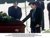 Sophie Blake Photo - Actor Robert Blake places a hand on the coffin bearing his slain wife Bonny Lee Bakley during a brief funeral ceremony in Los Angeles Friday May 25 2001  Blake attended the service with the couples daughter Rose Lenore Sophie Blake Man at left is unidentified  PHOTO SUPPLIED BY GLOBE PHOTOS INCAP POOL K21950NP