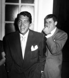 Dean Martin Photo - Dean Martin and Jerry Lewis Listening to George Jessel As He Emcees a Show in a Los Angeles Community Hall Nate CutlerGlobe Photos Inc