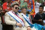 Adam Richman Photo - Coney Island Mermaid Parade Brooklyn NY King Neptune Adam Richman and   Queen Mermaid Cat Greenleaf                                                                                                           Bruce Cotler - Globe Photos                      6  18  11