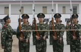 ARMED POLICE Photo - Apr 10 2008 Beijing China the Armed Police Who Will Work in the National Studaium Also Known As Birds Nest During the Olympic Games Have a Special Training Photo by Top Photo-Globe Photos Inc
