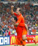 Arjen Robben Photo - Mark Van Bommel  Arjen Robben Cellebrate Win Holland V Ivory Coast World Cup Soccer 06-16-2006 Photo by Allstar-Globe Photos