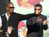 Angry Birds Photo - Jamie Foxx George Lopez Actors Rio Angry Birds Game Launch Century City Los Angeles 01-28-2011 photo by Graham Whitby Boot-allstar - Globe Photos Inc -Globe Photos  2010