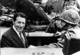 CASPAR WEINBERGER Photo - Caspar Weinberger Inspecting a Us Panzer Division Photo by Cp-Globe Photos