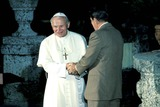 John Paul Photo - Pope John Paul Ii and Ronald Reagan Photo Doug Vann  Ipol  Globe Photos Inc 1987