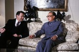 CASPAR WEINBERGER Photo - Caspar Weinberger and Zhao Ziyang 1984 Photo by Globe Photos