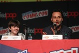 Chandler Riggs Photo - Andrew Lincolnchandler Riggs Talking About New Season Ofwalking Dead at NY Comic Con at Javit Center 10-13-2012 Photo by John BarrettGlobe Photos