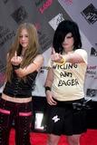 Avril Lavigne Photo - Mtv Video Music Awards Arrivals Radio City Music Hall New York City Photo John Barrett  Globe Photos Inc 2003 08282003 Avril Lavigne and Kelly Osbourne