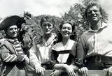 Burt Lancaster Photo - Devils Disciple Lawrence Olivier Kirk Douglas Janette Scott and Burt Lancaster Supplied by Globe Photos Inc Kirkdouglasretro