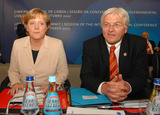 Angela Merkel Photo - LISBON PORTUGAL - Working session - Lisbon Informal Summit  Session of the Intergovernmental Conference In Picture Angela Merkel (Germany Federal Chancellor) and Frank Walter Steinmeier (Germany Minister for Foreign Affairs) 10-18-2007Photo by Alvaro Lsidoro-Cityfiles-Globe Photos incK55192