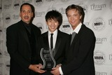 Jarvee Hutcherson Photo - 2009 Diversity Awards - Show  Pressroom Luxe Hotel Bel-air CA 112209 Justin Chon and Michael Welch with Jarvee Hutcherson - Diversity Awards President Photo Clinton H Wallace-photomundo-Globe Photos Inc