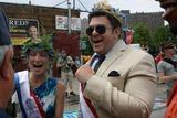 Cat Greenleaf Photo - Coney Island Mermaid Parade Brooklyn NY King Neptune Adam Richman and   Queen Mermaid Cat Greenleaf                                                                                                           Bruce Cotler - Globe Photos  Cat Greenleaf - Adam Richman                    6  18  11
