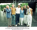 Betty Comden Photo - Writers Betty Comden  Adolph Green  Director George C Wolf Do a Soft Shoe with Some of the Casts Members of There Revival of on the Town at the Delacorte Theatre in Central Park New City Exclusive Photo K20478jbe James Bevins Globe Phots Inc