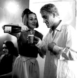 Peter OToole Photo - Peter Otoole and His Wife Sian After His Performance in Hamlet at the Old Vic Theatre at Waterloo 1963 Globe Photos Inc Peterotooleretro