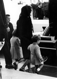Jackie Onassis Photo - John  Caroline Kennedy with Jackie Onassis at Jfk Funeral Photol StevensGlobe Photos Inc