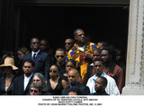 Aaliyah Photo - Aaliyah Funeral Church of St Ignatius Loyola NYC 083101 Sean Puffy Combs Photo by John BarrettGlobe Photos Inc