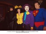 John Forsythe Photo - 2 (L to R) Michael Crawford Morgan Fairchild Bob Hope and John Forsythe in Superhero Costumes Photo by Bob V NobleGlobe Photos Inc